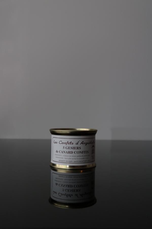 5 gésiers canard confit Les Confits d'Arguibelle